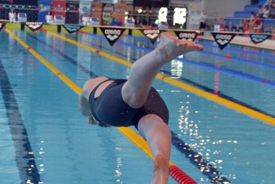 Na zawodach- rozgrzewka, rozpływanie
